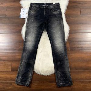 PRPS Black Bleach Spot Demon Slim Fit Denim Jeans